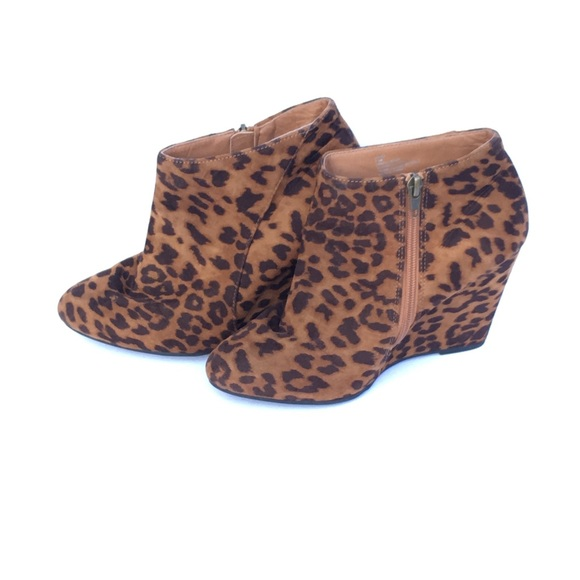 52e7426e865f Madden Girl Shoes | Size 75 Zumba Leopard Wedge Bootie | Poshmark